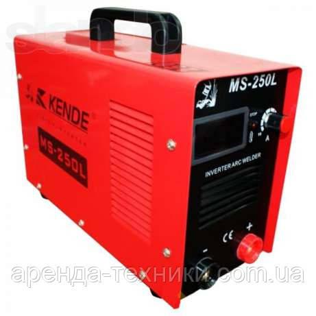 Аренда, прокат сварочного аппарата (инверторный) KENDE MS-250L.