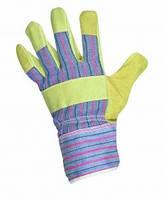 Комбинированные кожаные перчатки SERIN