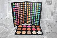 Профессиональная палита теней 168 и румян 15 цветов для макияжа