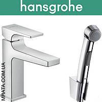 Смеситель Hansgrohe (art 32522000) для умывальника  Metropol c гигиеническим душем