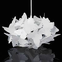 Современные AC110-220V E27 Белые бабочки Перья Кулон Потолочные люстры для гостиной