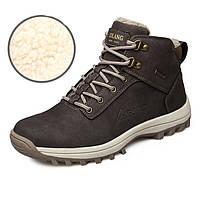 МужскаязимняяснегБотинкиНаоткрытом воздухе Мода Тапки Супер теплая подкладка Нескользящая альпинистская обувь