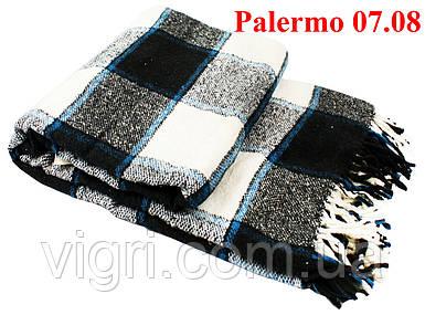 Плед  полуторный 140х200, тм. VLADI, Палермо «Palermo» 07.08 (сине-бел-черн)