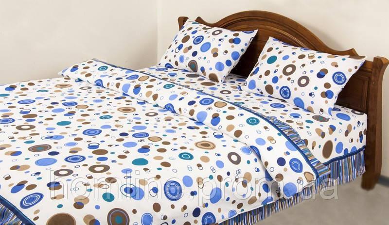Постельное белье Lotus Ranforce Bubble синее двухспального размера