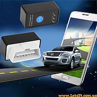 Авто-сканер с кнопкой Mini ELM327 OBDII V2.1 Bluetooth + ПО