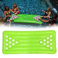 ПВХнадувнойпивнойпонгстол22 Кубок Отверстия Вода плавающая для Бассейн Party Drinking Game