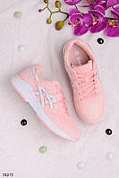 Кроссовки женские розовые (пудра)  Baas эко-замш + текстиль, фото 1
