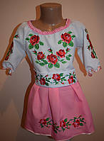 """Вишите плаття """"Трояндові мрії"""" рожеве"""