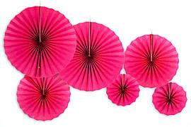 """Набор бумажных вееров """"Розовые"""". 6 штук."""