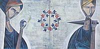 """Интерьерная картина, """" Двоє"""" , 2016р.  абстрактная живопись, диптих, contemporary art, портрет  на заказ"""
