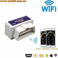 Авто-сканер Mini WiFi ELM327 V1.5 OBD2 IOS Android + программы