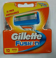 Gillette Fusion сменные картриджи 12 шт в упаковке