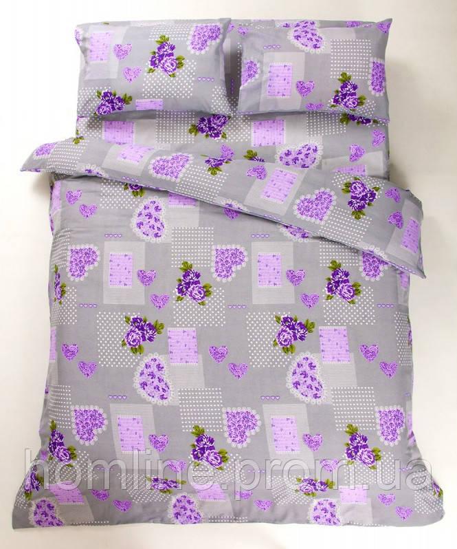 Постельное белье Lotus Ranforce Tendresse лиловое двухспального размера
