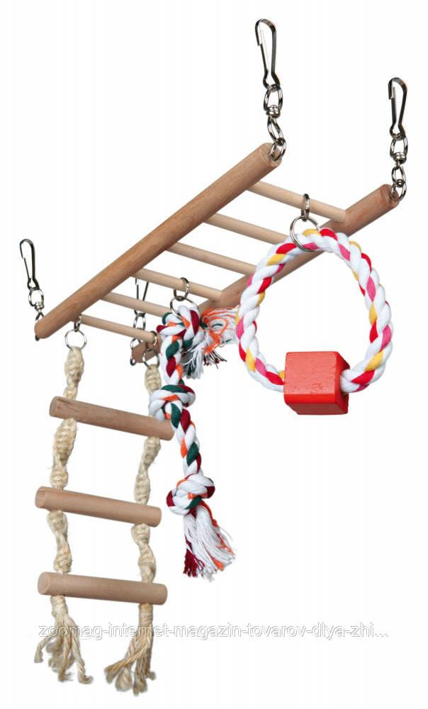 Мост деревянный подвесной с канатами для грызунов 29*25*9см, Trixie™