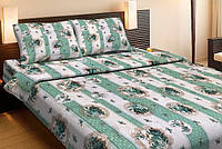 Постельное белье Lotus Ranforce Vintage зеленое двухспального размера