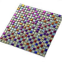 11 шт.Красочные стеклянные мозаичные плитки для гостиной Ванная комната Паб