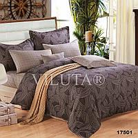 Евро комплект постельного белья VILUTA ранфорс-платинум 17501