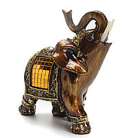 Смола Фэн-шуй Элегантная статуя слона Lucky Богатство Фигурка Домашнее украшение Декор