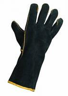 """Перчатки кожанные """"SANDPIPER"""", крага, черные, с подкладкой"""