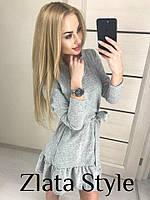 Красивое женское платье с поясом