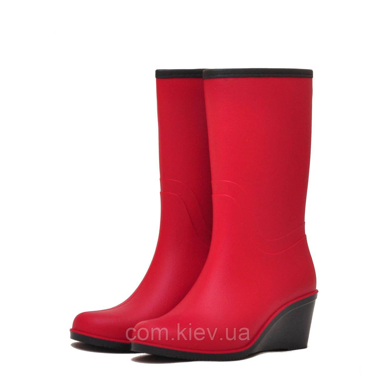 d9587c343 Сапоги женские резиновые (ПВХ) матовые ПС 27-2 (красные) р. 39, цена ...