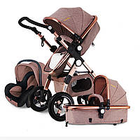 3 IN 1 Многофункциональная детская коляска с высоким взглядом Pram Складная коляска Bassette Авто Seat