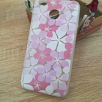 Чехол на Xiaomi redmi 4x цветы с стразами