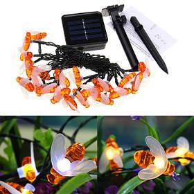 Солнечная Powered 5M 20LEDs Водонепроницаемы Honey Bee Fairy String Light для Сад Yard Christmas-1TopShop