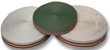 Лента, тесьма ковровая жесткая 25 мм - тесьма ременная полипропиленовая 50 м (бухта)