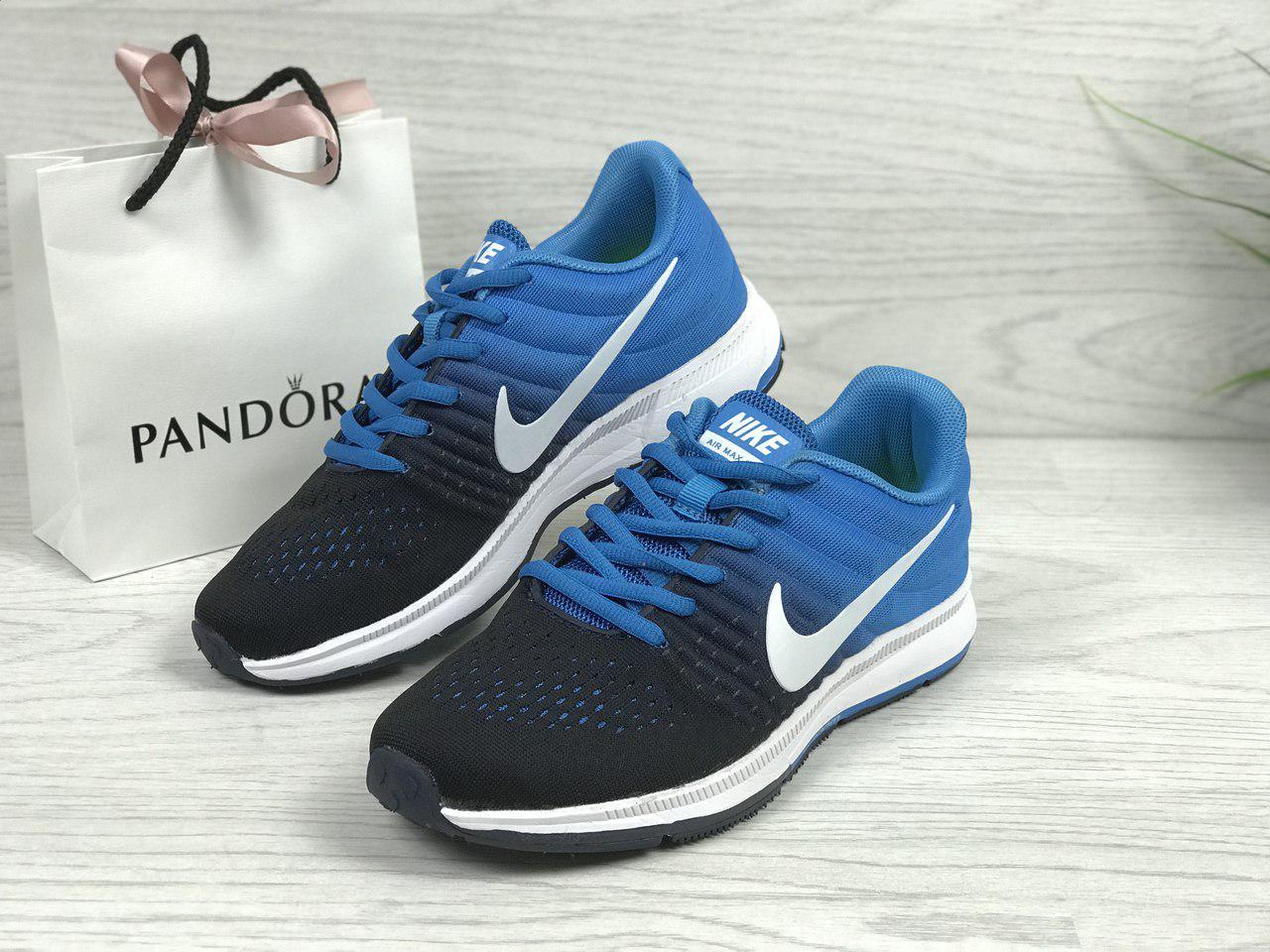Женские кроссовки Nike Air Max  2017 (синие), ТОП-реплика