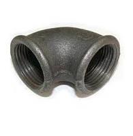 Колено (угольник) чугунное ду 32 в/в, фото 1