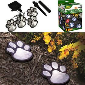 Солнечная Powered Pure White 4 Собака Animal Paw Печать На открытом воздухе LED Fairy String Lights для Сад -1TopShop