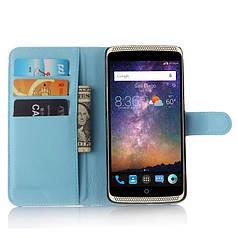Чехол для ZTE Axon Lux / Axon Elite / A2015 книжка кожа PU голубой