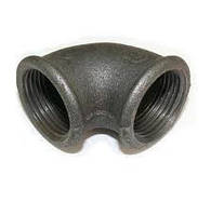 Колено (угольник) чугунное ду 40 в/в, фото 1