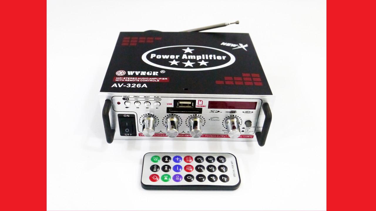 Усилитель Звука AV-326A FM USB 2x200 Вт
