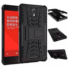Чехол Xiaomi Redmi Note 2 бампер противоударный черный