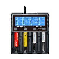 ADEASKASQ4ИнтеллектуальныйLCDДисплейUSB Батарея Зарядное устройство для IMR/Li-ion Ni-MH/Ni-Cd/LiFePO4 Батарея