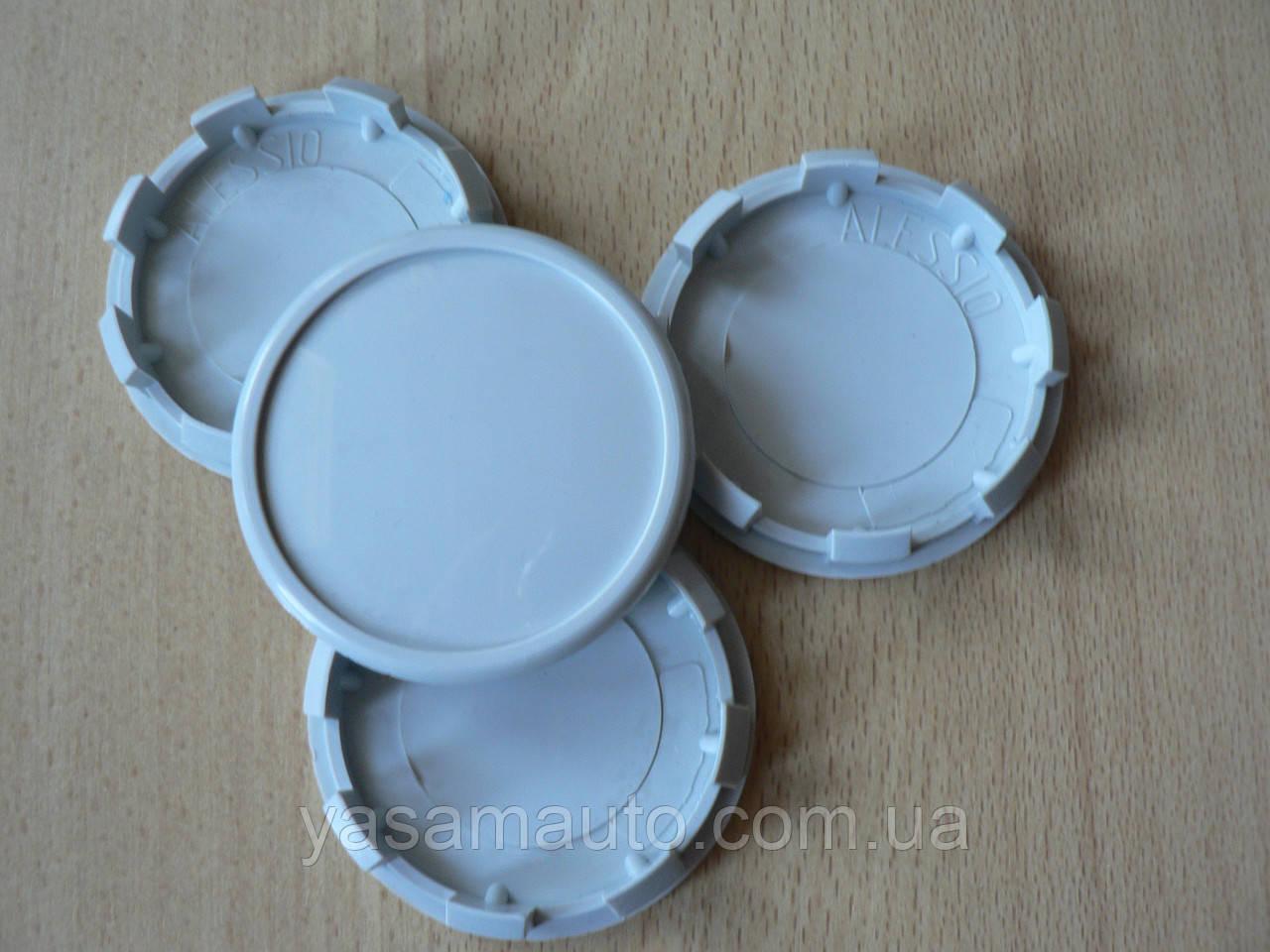 Колпачок серый  60,0/56,5/57,5мм 4шт вставка Alessio заглушка диаметры в на литой диск пластиковая 8 ножек №05