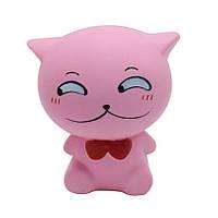 Squishy PU Медленный ebound игрушечный симулятор Bow Tie Кот Decompression Pinch Random Color