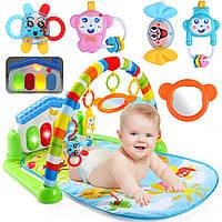 3 в 1 Baby Infant Спортзал Soft Playmat & Фитнес Музыкальные огни Fun Piano Carpet Gift
