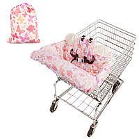 Baby Kids Корзина Корзина подушки Детские тележки Pad Baby Покупки Push Cart Защитная крышка Детские кресла сиденья коврик с безопасностью Ремень