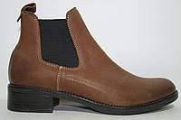 Ботинки женские кожаные коричневые, ботинки челси женские от производителя модель КА303-83