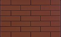 Фасадная клинкерная плитка Burgund гладкий 6,5x24,5