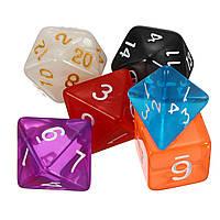 42 штук Многосторонний акриловый полиэдр Кости Набор 6 цветов Ролевая игра Game Patry Gadget с Сумки