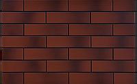 Фасадная клинкерная плитка Burgund гладкая с отливом 6,5x24,5