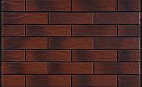 Фасадная клинкерная плитка Burgund рустикальная с отливом 6,5x24,5