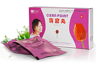"""Китайские тампоны """"Clean Point"""" Лечебные на Травах, Qing Gong Wan"""