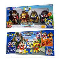 Игровой набор трансформер Робокар Поли (Robocar Poli) 83168-LH (4 героя в наборе)