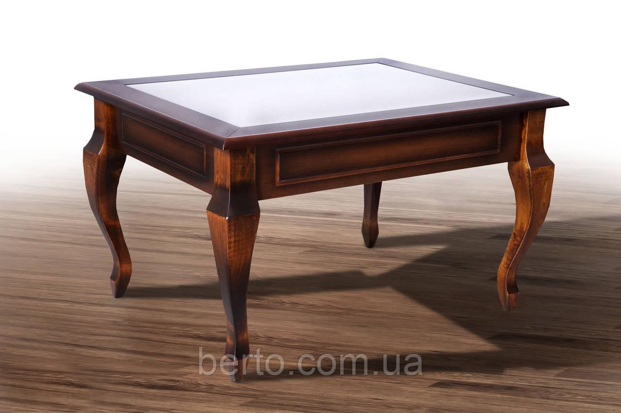 журнальный столик вега со стеклом дерево микс мебель в категории