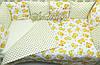 Комплект в кроватку «Мишки» 8 бортиков с постельным, фото 5
